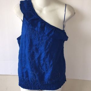 EXPRESS STRAPLESS   BLUE COLOR BLOUSE SZ S NWT